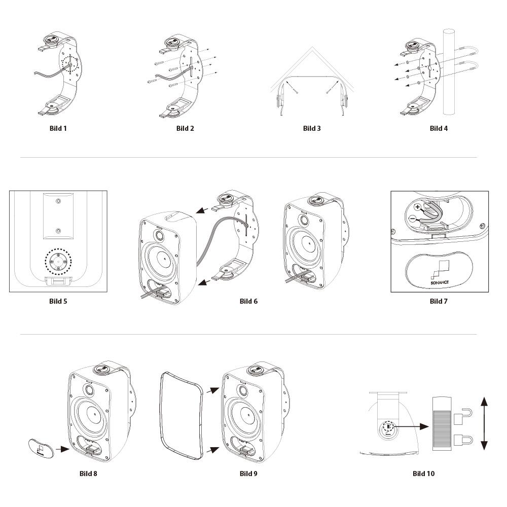 aufbau-  wandlautsprecher    outdoor    sonance mariner    mariner 54 stereo  schwarz