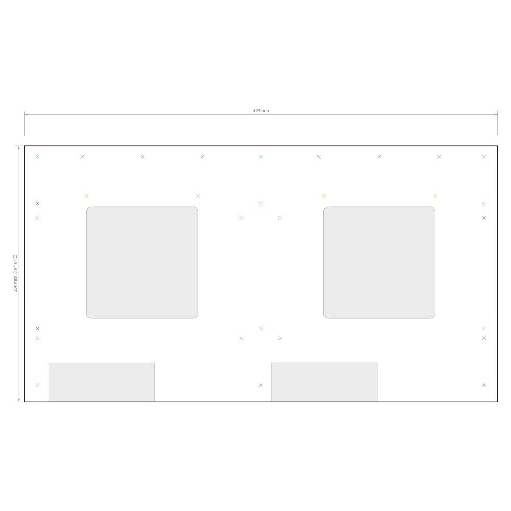 multiroom    systemline s7    rackmount 19 u0026quot     montage-set f u00fcr racktablar und m u00f6bel