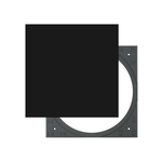 Square Adapter Set black