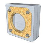 sonaboxx - Einbetonier-Gehäuse R210Z8SB - für Lautsprecher in Sichtbeton