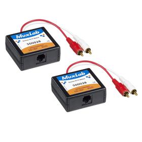 MuxLab Stereo HiFI Balun Set (500028-2PK)