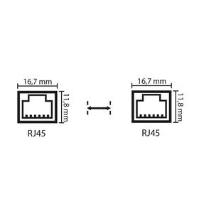 RJ45-Stecker 0bhn-e0 u8np-sj sh1c-fr