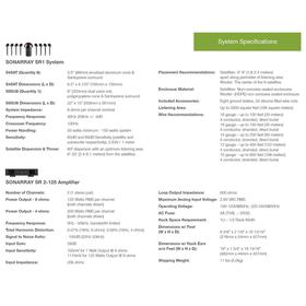 Sonarray System Specifications