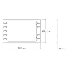 """iPort Surface Mount Button für iPad 9.7"""" - silver"""