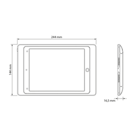 Abmessungen Case iPad Mini 8mfh-z9
