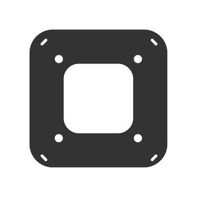 WallStation black Kit LaunchPort Wall Mountig Plate1